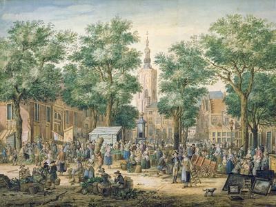 Market in the Hague, 1769