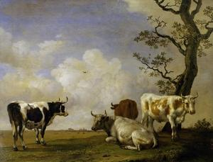 Four Bulls by Paulus Potter