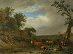 Herdsmen with their Cattle, after Paulus Potter by Paulus Potter