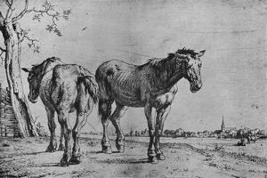 'The Two Plough Horses', 1652 by Paulus Potter