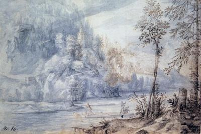 Edge of River with Raft, 17th Century