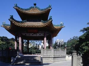 Pavilion in Martyrs Cemetery, Canton (Guangzhou), Guangdong, China
