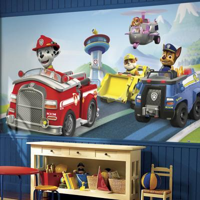 Paw Patrol XL Chair Rail Prepasted Mural