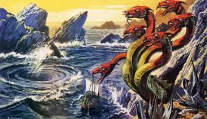 Scylla Attacking Olysseus's Ship by Payne