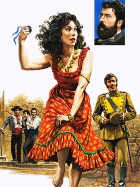 The Gipsy Girl Who Conquered the World, Carmen, Illustration from 'The Music-Makers', 1982 by Payne