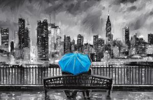 PD Moreno: Fine Art - Blue Umbrella