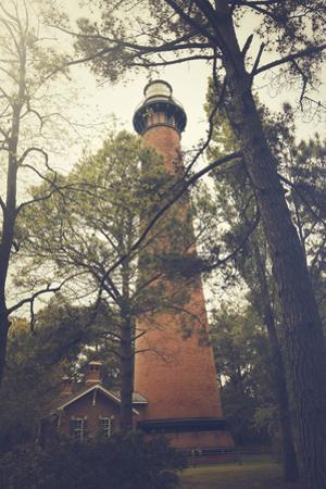 Vintage Presentation of the Currituck Beach Lighthouse in Corolla, North Carolina by pdb1