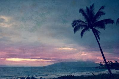 Vintage Take on a Tropical Sunset on Maui in Hawaii by pdb1