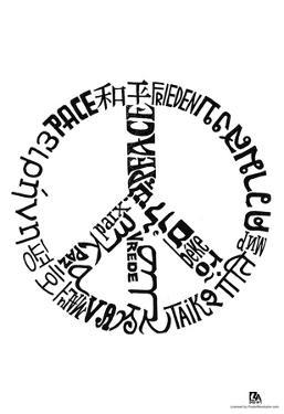 Peace Languages Text Poster