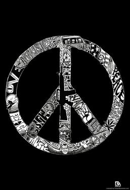 Peace Love Music Text Poster