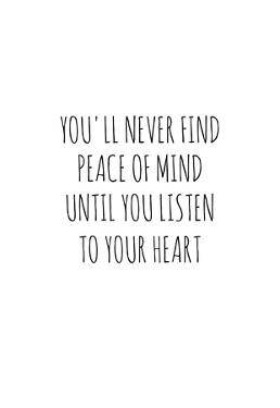Peace of Mind and Heart