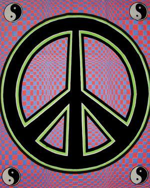 Peace Sign - Opticz Cloth Fabric Poster