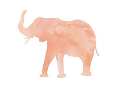 Coral Elephant by Peach & Gold