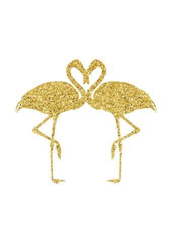 Gold Flamingos by Peach & Gold