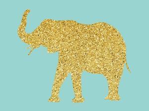 Gold Glitter Elephant by Peach & Gold