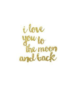 I Love you to the Moon & Back Gold by Peach & Gold