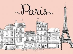 Paris on Pink by Peach & Gold