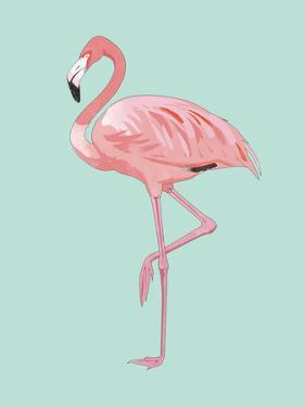 Pink Flamingo by Peach & Gold