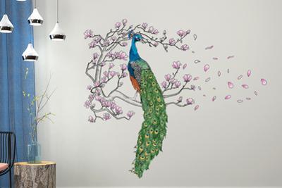 Peacock and Magnolia Tree Decoration Set