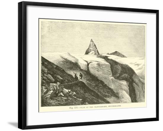 Peak of the Matterhorn, Switzerland--Framed Giclee Print