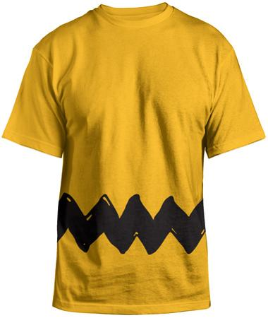 Peanuts- Charlie Brown Costume Tee (Front/Back)