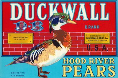 Pear Crate Label, Duckwall
