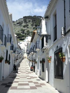 Calle San Sebastian, a Narrow Street in Mountain Village, Mijas, Malaga, Andalucia, Spain by Pearl Bucknall