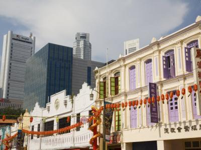 Old Traditional Shophouses, Chinatown, Outram, Singapore, Southeast Asia by Pearl Bucknall