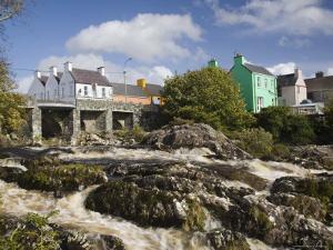 Sneem River Below Road Bridge in Village on Ring of Kerry Tourist Route, Iveragh Peninsula, Munster by Pearl Bucknall