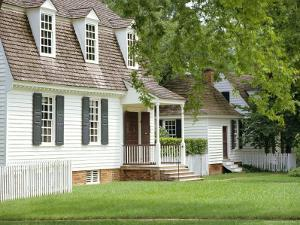 House in Nicholson Street, Dating from Colonial Times, Williamsburg, Virginia, USA by Pearl Bucknell