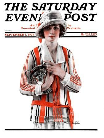 """""""Woman and Trophy,"""" Saturday Evening Post Cover, September 1, 1923"""