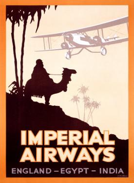 Imperial Airways, England-Egypt-India by Peckham