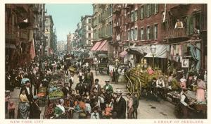 Peddlers in Old New York Street