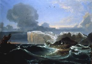 Stormy Seas by the Cliffs, 1845 by Peder Balke