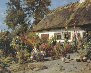 Cottage Garden by Peder Monsted
