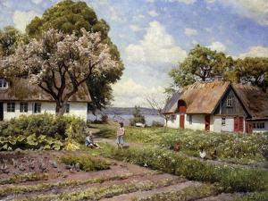 Children in a Farmyard by Peder Mork Monsted