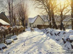 First Snow by Peder Mork Monsted