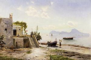 From Sorrento, Towards Capri, 1889 by Peder Mork Monsted