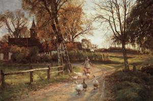 The Goose Girl by Peder Mork Monsted