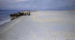 Fishermen on the Beach at Skagen, Denmark by Peder Severin Kröyer