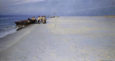 Fishermen on the Beach at Skagen, Denmark