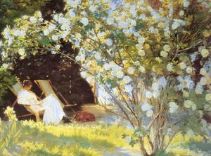 Les Roses by Peder Severin Kröyer