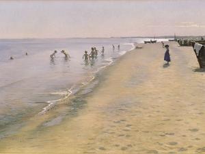 Summer Day at the South Beach of Skagen, 1884 by Peder Severin Kröyer