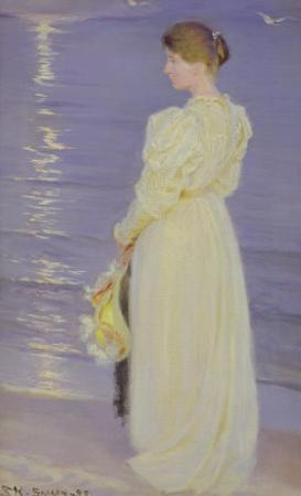 Woman in White on a Beach, 1893