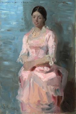 Portrait of Frederikke Tuxen, 1882 by Peder Severin Kroyer