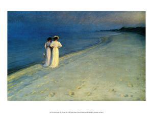 Summer Evening on Skagen Beach, 1893 by Peder Severin Kroyer
