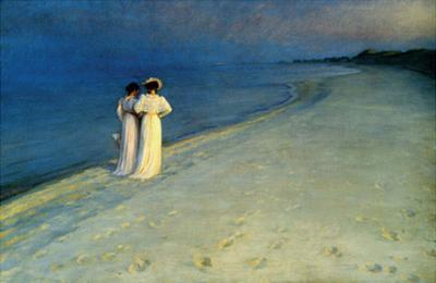 Summer Evening on Skagen Beach, 1893 by Peder Severin Kroyer