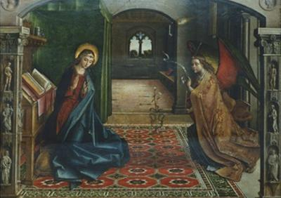 Annunciation, 1485 by Pedro Berruguete