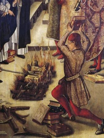 Burning of Heretics Books by Pedro Berruguete