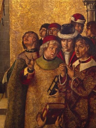 St Dominic De Guzman and Albigensians by Pedro Berruguete